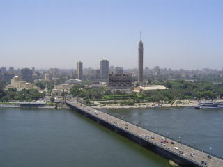 Wow!  The view from our room on the 20th floor of the Semiramis Intercontinental