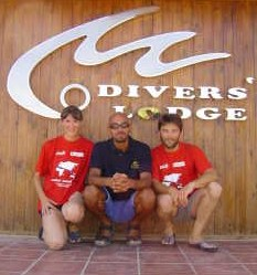 Tim, Joanne and PADI instructor Salama