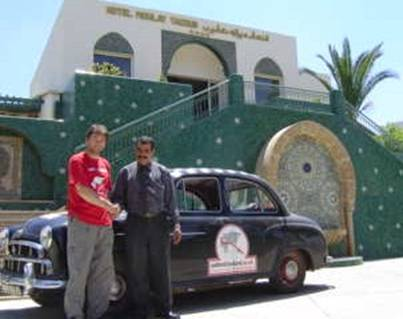 Hotel Moulay Yacoub - Tim with the Director, Monsieur Abdellah Ait Seddik